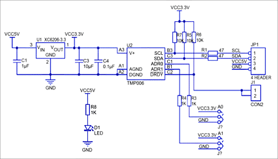 Схема TMP006
