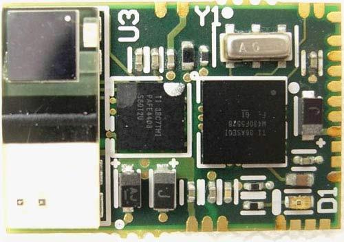 Референсная плата пульсоксиметра имеет размеры 1,55 × 1,05 см