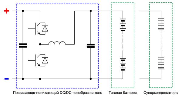 Схема повышающе-понижающего DC/DC-преобразователя