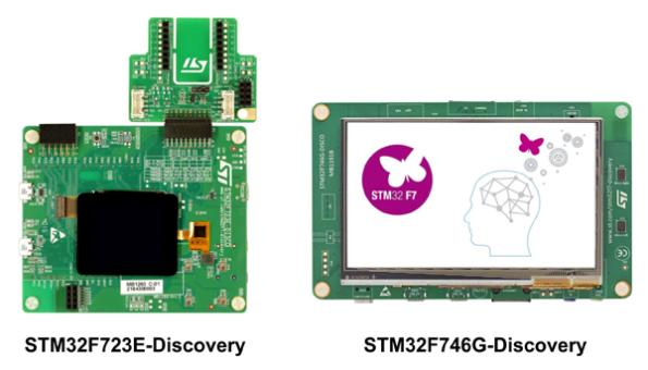 Отладочные платы STM32F723E-Discovery и STM32F746G-Discovery