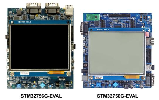 Отладочные платы STM32H753I-EVAL и STM32756G-EVAL