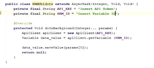 Android Studio Ubidots API токен код
