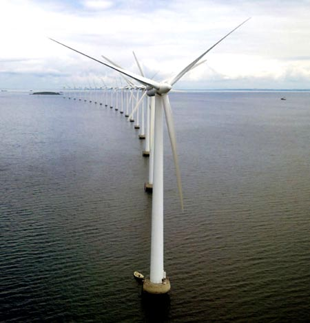 Морская ветряная электростанция