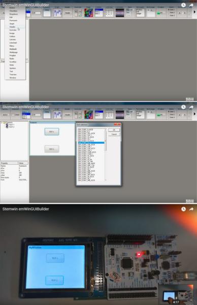 Этапы разработки графического интерфейса при помощи GUIBuilder