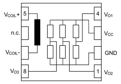 Внутренняя структура датчика KMT36H