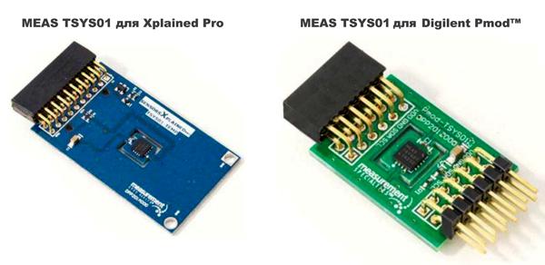 Отладочные модули для датчиков TSYS01S
