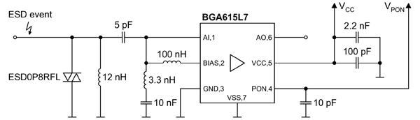 Схема включения BGA615L7