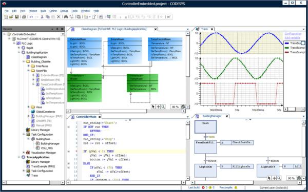 Рабочий экран программирования в среде CoDeSys