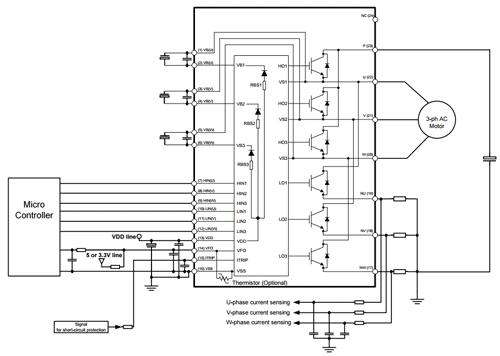 Пример схемы приложения типа открытый эмиттер (инвертор)