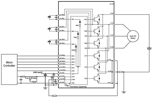 Пример схемы приложения с включением типа закрытый эмиттер (инвертор)