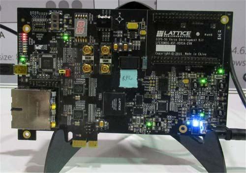 На демонстрационной плате, представленной на CES, ПЛИС от Lattice работает совместно с RPC SRAM от Etron