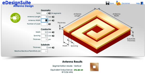 Утилита для расчета печатной антенны