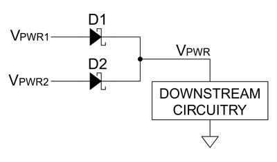 ОRing-схема на диодах