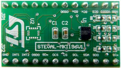 Внешний вид платы датчика STEVAL-MKI196V1
