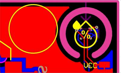 Контактная площадка под HDC-датчик