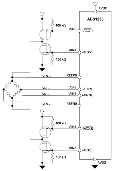 Схема возбуждения измерительного моста переменным напряжением