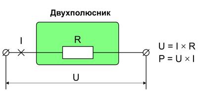 Основные соотношения для резистивного двухполюсника