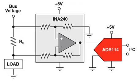 В схеме измерения тока со стороны высокого напряжения токоизмерительный резистор устанавливается между источником питания и активной нагрузкой