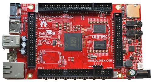 Внешний вид одноплатного компьютера A20-OLinuXino-MICRO-4GB