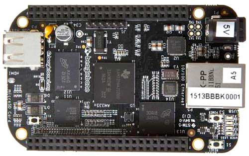Внешний вид одноплатного компьютера BeagleBone Black Rev. C