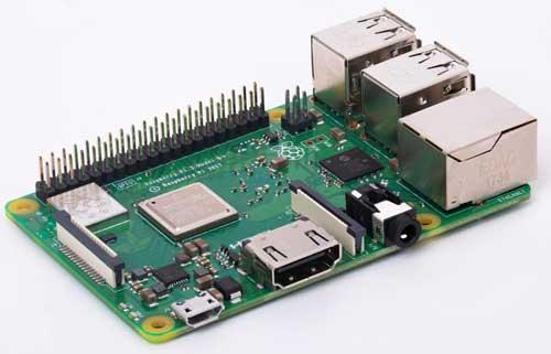 Внешний вид одноплатного компьютера Raspberry Pi 3 Model B+
