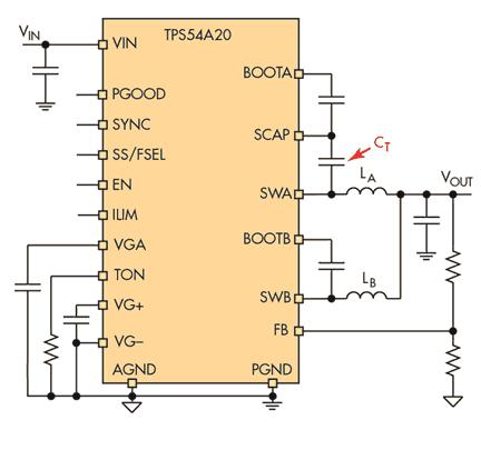 Двухфазный преобразователь TPS54A20