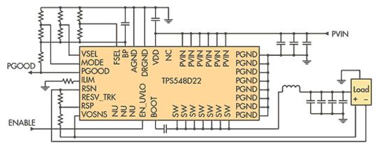 TPS548D22 – синхронный понижающий преобразователь