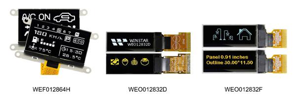 Новые графические OLED-дисплеи Winstar