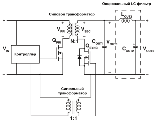Обратноходовой преобразователь с синхронным выпрямлением