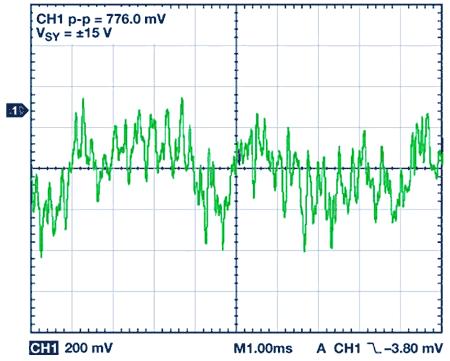 Шум в диапазоне от 0,1 Гц до 10 Гц, VSY = ± 15 В, G = 1000