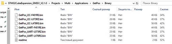 Варианты предварительно скомпилированных образов проекта GetPos