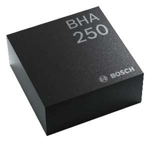 BHA250 от Bosch Sensortec, объединяющий 32-разрядный микроконтроллер с 14-разрядным датчиком ускорения в компактном корпусе 2,2 x 2,2 x 0,95 мм