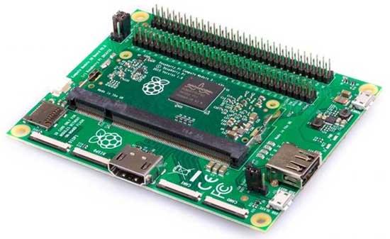Фирменная отладочная плата для работы с модулями Raspberry Pi CM3+