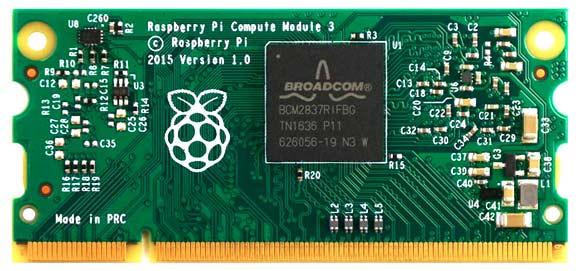Compute Module обеспечивает большую часть функциональности Raspberry Pi без всех разъемов