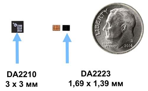 Приемники DA2210 и DA2223 отличаются компактными габаритами