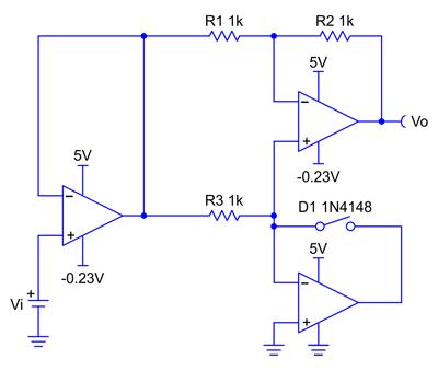 Эквивалентная схема для положительной полуволны входного сигнала