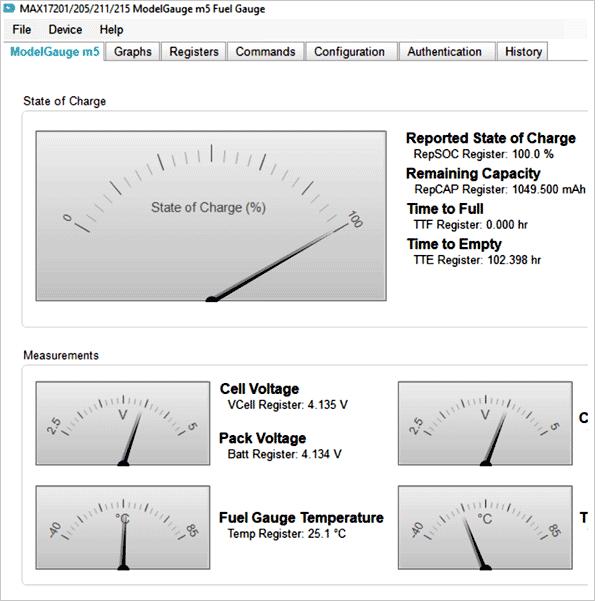 Интерфейс EZ Confg Tool Interface для ModelGauge m5