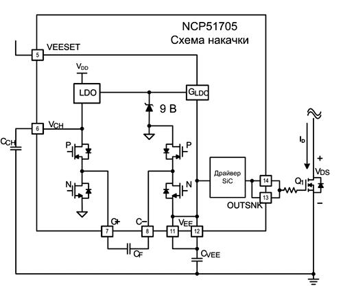 Схема накачки в драйвере NCP51705
