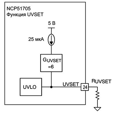Реализация защиты от просадок напряжения (UVLO) в драйверах NCP51705