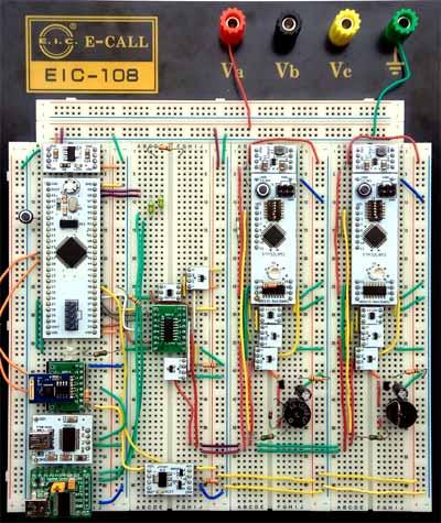 Компоненты, подключенные к макету на ранних этапах создания прототипа