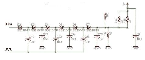 Схема накачки заряда