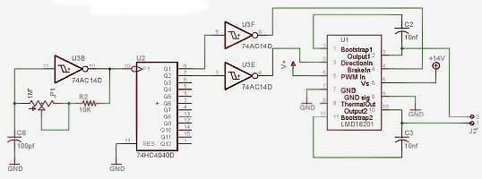 Генератор, приводящий в действие схему накачки заряда.