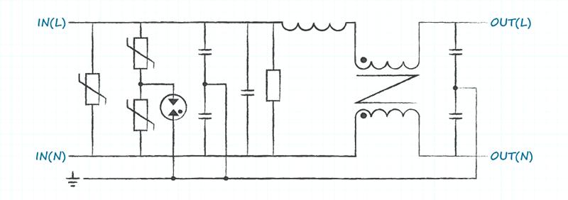 Пример ЭМИ-фильтра