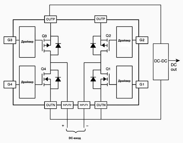FDMQ8201 – интегральный мост, состоящий из МОП-транзисторов