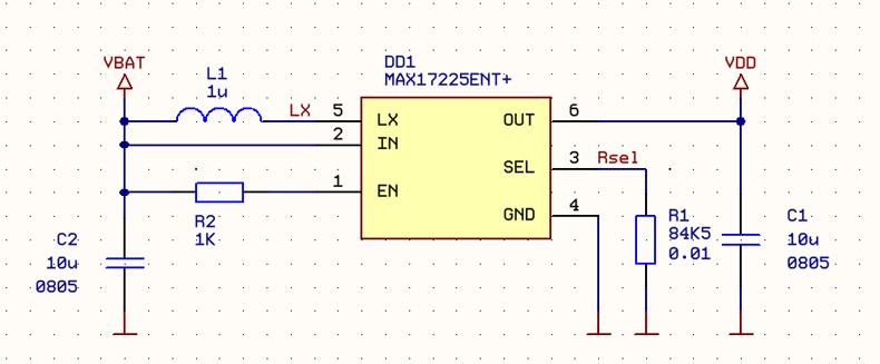 Схема подключения MAX17225