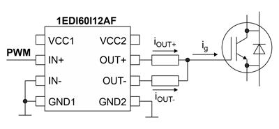 В типовой схеме используется один драйвер