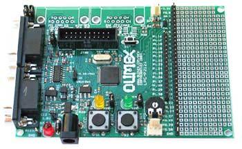 Плата для разработки на базе микроконтроллера LPC2124