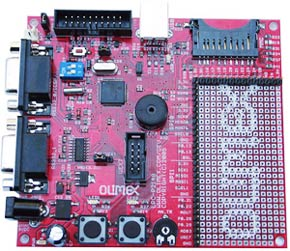 Отладочная плата фирмы OLIMEX для микроконтроллера LPC2148