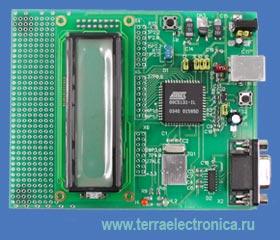 Макетная плата для освоения программирования микроконтроллера фирмы Atmel АТ89С5130A
