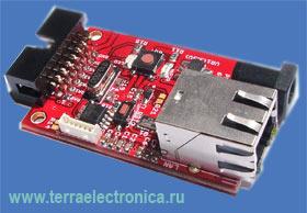 PIC-MINI-WEB – отладочная плата аппаратного веб-сервера на базе микроконтроллера PIC от MICROCHIP
